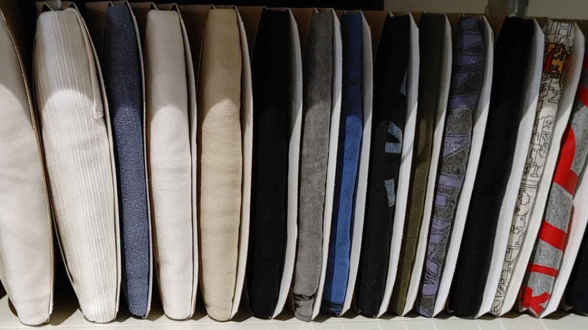 TATEMUでTシャツをスッキリ収納